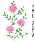decorative flowers ornament.... | Shutterstock . vector #49173985
