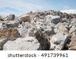 limestone mining  quarry | Shutterstock . vector #491739961