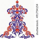 hungarian folk art | Shutterstock .eps vector #491754154