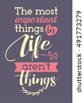 the most important things in... | Shutterstock .eps vector #491773279