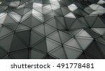 plexus dark plastic 3d rendering | Shutterstock . vector #491778481