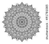 mandala. black and white...   Shutterstock .eps vector #491781085