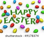 'happy easter'  text made of... | Shutterstock . vector #49178374