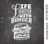 vector quote typographical... | Shutterstock .eps vector #491789335