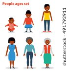 african american ethnic woman... | Shutterstock .eps vector #491792911