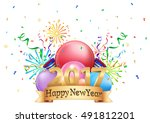 3d illustration logo of happy... | Shutterstock .eps vector #491812201