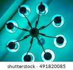 decorative modern shaped lamps... | Shutterstock . vector #491820085