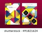 geometric design  business... | Shutterstock .eps vector #491821624