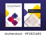 business a4 annual report... | Shutterstock .eps vector #491821681