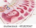 stacked of china 100 renminbi... | Shutterstock . vector #491829367