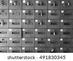 locker wooden with monochrome...   Shutterstock . vector #491830345