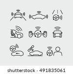 autonomous driving icons | Shutterstock .eps vector #491835061