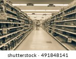 blurred image of supermarket... | Shutterstock . vector #491848141