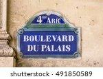 Paris   Boulevard Du Palais  ...