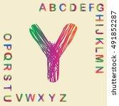 alphabet set colorful design ...   Shutterstock .eps vector #491852287