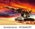 tank. the missile system.   Shutterstock . vector #491868295