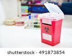 disposal container for... | Shutterstock . vector #491873854