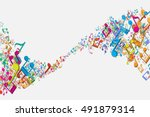 abstract illustration of melody.... | Shutterstock .eps vector #491879314