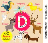 Cute Children Zoo Alphabet D...