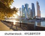 moscow city international... | Shutterstock . vector #491889559