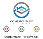 property logo template | Shutterstock .eps vector #491896531