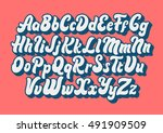 comic lettering font vector...