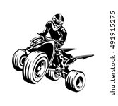 Quad Bike Silhouette  Atv Logo...