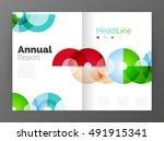 transparent circle composition... | Shutterstock .eps vector #491915341