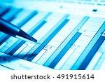 data analyzing in forex market... | Shutterstock . vector #491915614