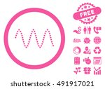 sinusoid waves pictograph with... | Shutterstock .eps vector #491917021
