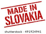 made in slovakia stamp....   Shutterstock .eps vector #491924941