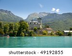 Medieval Castle On Annecy Lake...