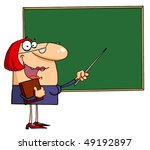 female teacher pointing to a... | Shutterstock .eps vector #49192897