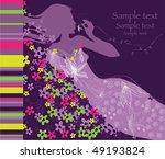 vector floral card | Shutterstock .eps vector #49193824