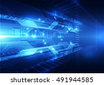 abstract speed technology... | Shutterstock .eps vector #491944585