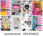 fashion sale and special offer... | Shutterstock .eps vector #491954815