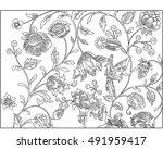 antique floral pattern | Shutterstock .eps vector #491959417