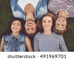 top view of beautiful stylish... | Shutterstock . vector #491969701