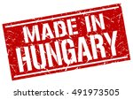 made in hungary stamp. hungary... | Shutterstock .eps vector #491973505