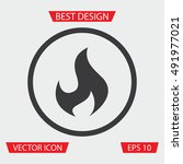 fire icon | Shutterstock .eps vector #491977021
