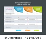 price list widget with 3... | Shutterstock .eps vector #491987059
