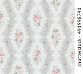 seamless pattern with lace and... | Shutterstock .eps vector #491998741