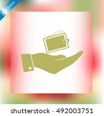 hand with purse icon   Shutterstock .eps vector #492003751