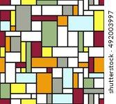 modern geometric abstraction...   Shutterstock .eps vector #492003997