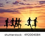 running sports. competition... | Shutterstock . vector #492004084
