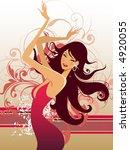 fashion girl | Shutterstock .eps vector #4920055