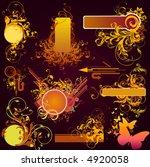 floral design elements | Shutterstock .eps vector #4920058