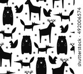 Black And White Forest Animals...