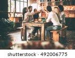 cheers to the best friends ... | Shutterstock . vector #492006775