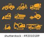 vector construction transport...   Shutterstock .eps vector #492010189